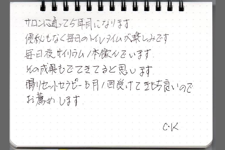 C.K様 50代